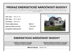 Průkaz PENB pro stávající stavbu RD - energetická třída G