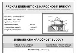 Průkaz PENB pro stávající stavbu RD - energetická třída A